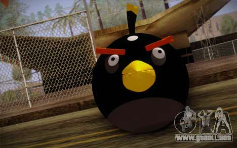Black Bird from Angry Birds para GTA San Andreas tercera pantalla