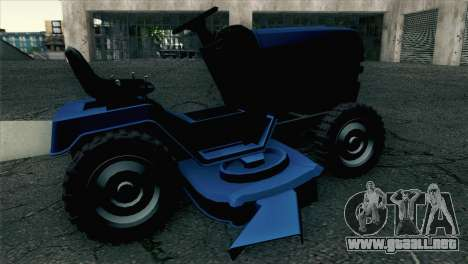 GTA V Mower para GTA San Andreas vista posterior izquierda