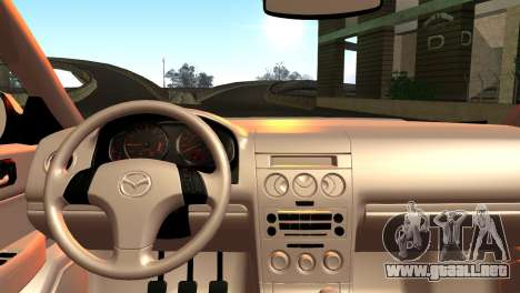 Mazda 6 MPS para GTA San Andreas vista posterior izquierda