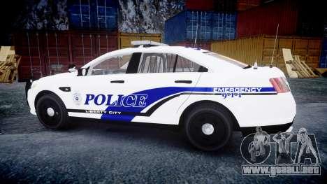 Ford Taurus 2014 Liberty City Police [ELS] para GTA 4 left