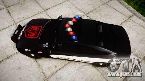 Dodge Charger STR8 LCPD [ELS] para GTA 4 visión correcta