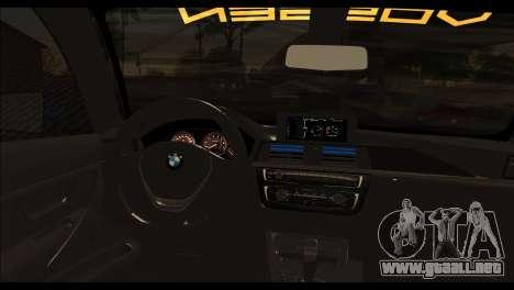 BMW M4 Stanced v2.0 para GTA San Andreas vista posterior izquierda