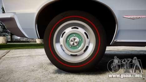 Pontiac GTO 1965 skull para GTA 4 vista hacia atrás