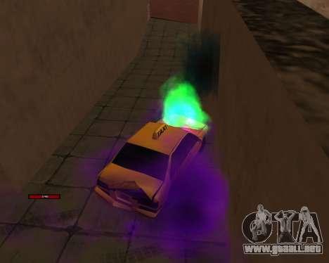 Indicador de HP coche para GTA San Andreas sucesivamente de pantalla