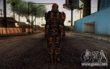 Shepard Reckoner Armor from Mass Effect 3 para GTA San Andreas segunda pantalla