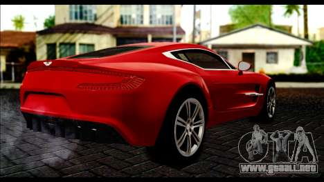 Aston Martin One-77 Black Beige para GTA San Andreas left