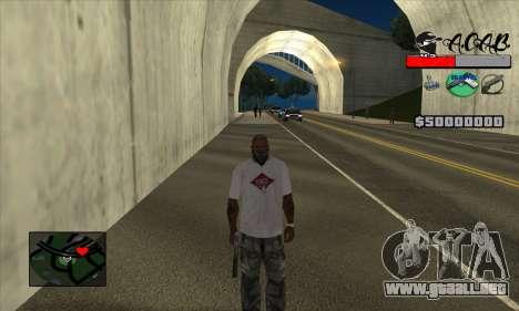 C-HUD A.C.A.B para GTA San Andreas tercera pantalla