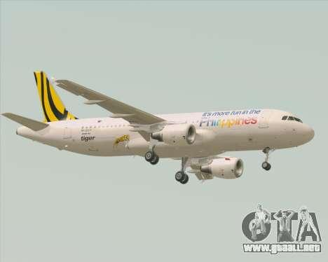 Airbus A320-200 Tigerair Philippines para GTA San Andreas vista hacia atrás