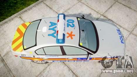 BMW 525d E60 2009 Police [ELS] para GTA 4 visión correcta