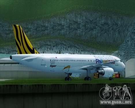 Airbus A320-200 Tigerair Philippines para la visión correcta GTA San Andreas