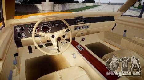 Dodge Charger RT 1969 General Lee para GTA 4 vista hacia atrás