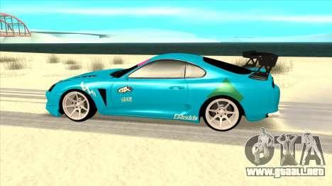 Toyota Supra Blue Lightning para GTA San Andreas left