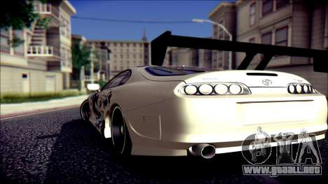 Toyota Supra Street Edition para GTA San Andreas left