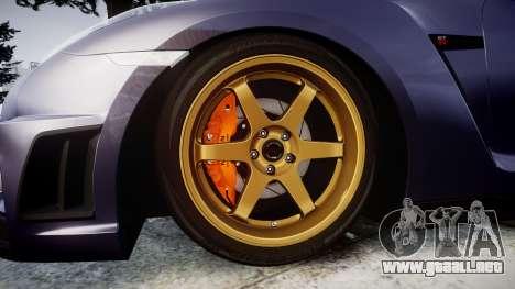 Nissan GT-R R35 2012 para GTA 4 vista hacia atrás