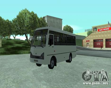 I-Van A07A para la visión correcta GTA San Andreas
