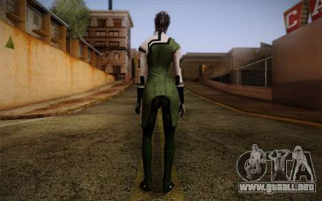 Liara T Soni Scientist Suit from Mass Effect para GTA San Andreas segunda pantalla