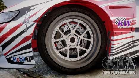 Nissan 240SX S13 D. Yoshihara HD para GTA 4 vista hacia atrás