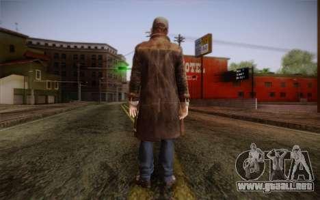 Aiden Pearce from Watch Dogs v5 para GTA San Andreas segunda pantalla