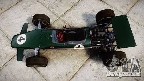 Lotus Type 49 1967 [RIV] PJ3-4 para GTA 4 visión correcta