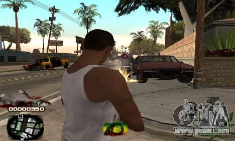 C-HUD Rasta para GTA San Andreas tercera pantalla