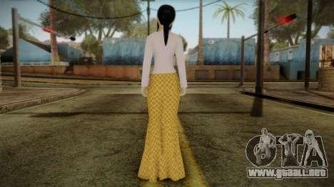 Kebaya Girl Skin v1 para GTA San Andreas segunda pantalla