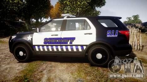 Ford Explorer 2013 Sheriff [ELS] v1.0L para GTA 4 left