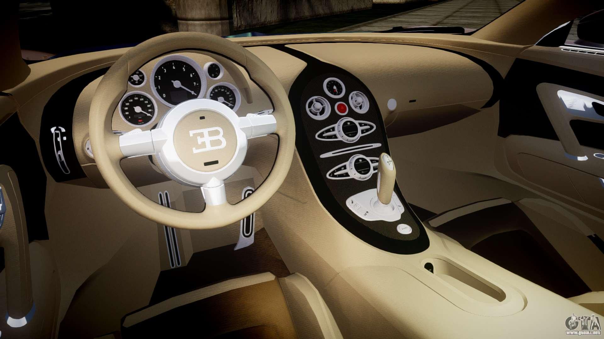 bugatti veyron 16 4 v2 0 para gta 4. Black Bedroom Furniture Sets. Home Design Ideas