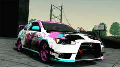 Mitsubishi Lancer Evolution X Racing Miku 2014 para GTA San Andreas