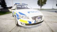 Volvo V70 2014 Swedish Police [ELS] Marked para GTA 4