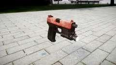 La pistola HK USP 45 rojo