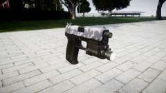 La pistola HK USP 45 siberia