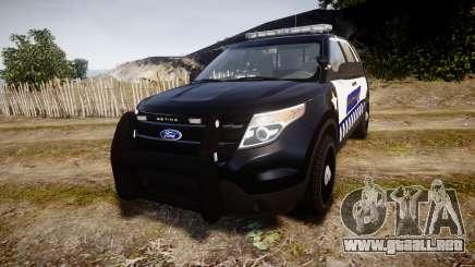 Ford Explorer 2013 Sheriff [ELS] v1.0L para GTA 4