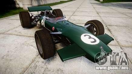 Lotus Type 49 1967 [RIV] PJ3-4 para GTA 4