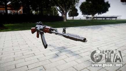 El AK-47 Colimador y el Hocico de freno para GTA 4