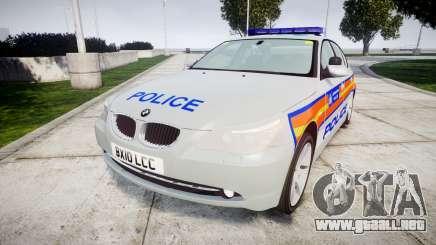 BMW 525d E60 2010 Police [ELS] para GTA 4