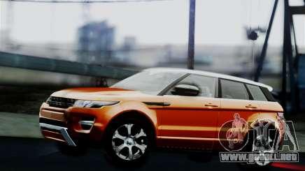 Range Rover Evoque 2014 para GTA San Andreas