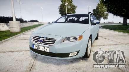 Volvo V70 2014 Swedish Police [ELS] Unmarked para GTA 4