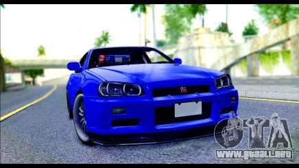 Nissan Skyline GTR R-34 from Fast and Furious 4 para GTA San Andreas