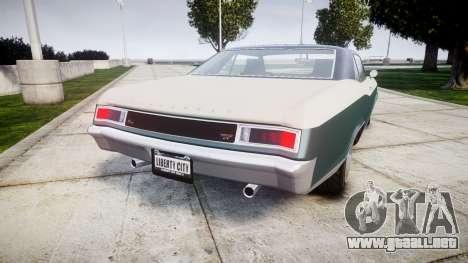 GTA V Albany Buccaneer paint1 para GTA 4 Vista posterior izquierda