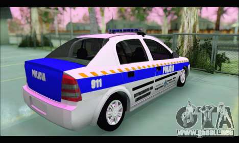 Chevrolet Astra Policia Vial Bonaerense para GTA San Andreas vista posterior izquierda