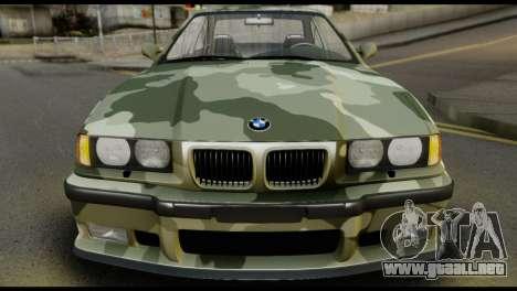 BMW M3 E36 Camo Drift para la visión correcta GTA San Andreas