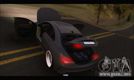 Mercedes Benz CLA 250 2014 para la vista superior GTA San Andreas