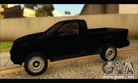 Volkswagen Amarok Cabina Simple para GTA San Andreas left