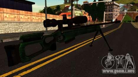 El SV-98 con un Bípode y Ámbito de aplicación para GTA San Andreas segunda pantalla