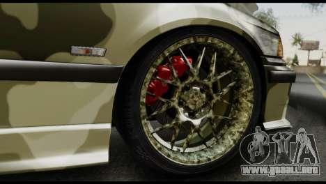BMW M3 E36 Camo Drift para visión interna GTA San Andreas