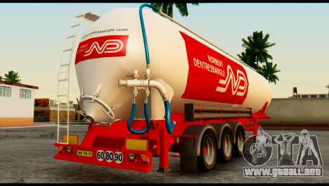 Mercedes-Benz Actros Trailer ND para GTA San Andreas left
