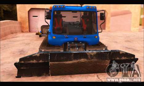 PistenBully 400P para GTA San Andreas left