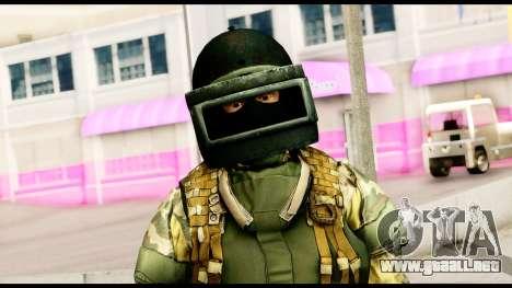 Support Troop from Battlefield 4 v2 para GTA San Andreas tercera pantalla
