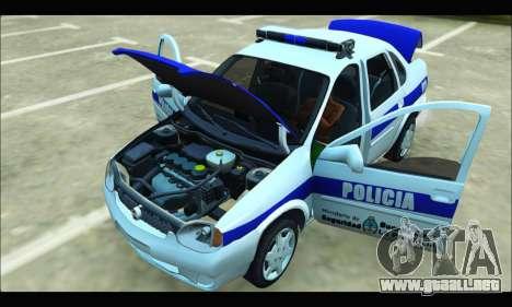 Chevrolet Corsa Policia Bonaerense para GTA San Andreas vista hacia atrás