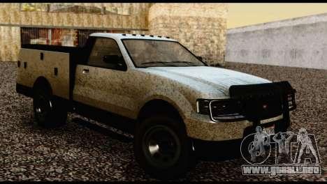 Utility Van from GTA 5 para GTA San Andreas vista posterior izquierda